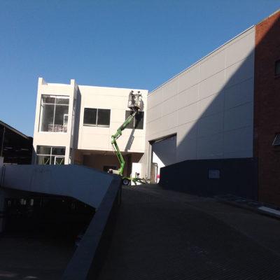 hyundai gateway shospec light-steel-frame-LSF-construction-dry-wall-shopfitting-access-flooring-roof-top-extension