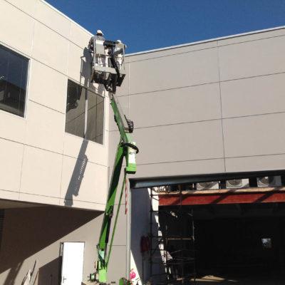 hyundai gateway shospec light-steel-frame-LSF-construction-dry-wall-shopfitting-aluminum-bulkheads-roof-top-extension