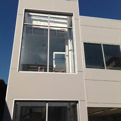 hyundai gateway shospec light-steel-frame-LSF-construction-dry-wall-shopfitting-aluminum-roof-top-extension