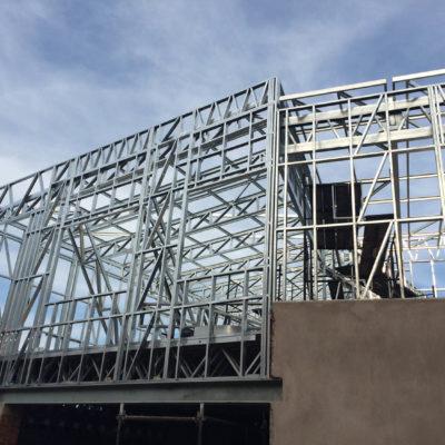 hyundai gateway shospec light-steel-frame-LSF-construction-shopfitting-partitioning-drywalling-roof-top-extension