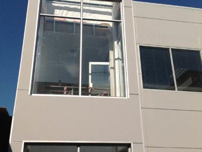 hyundai gateway shospec project-light-steel-frame-roof-structure-shopfitting-anodised-aluminium-frames-dry-wall-installations