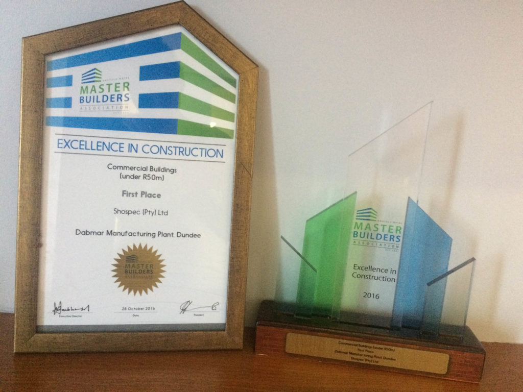 master builders awards shospec-excellence-in-construction-dabmar-manufacturing-plant-dundee