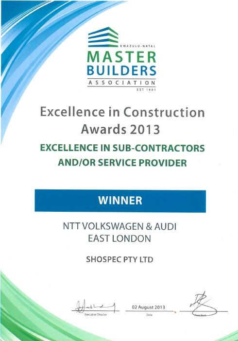 awards-shospec-2013-excellent-in-sub-contractors