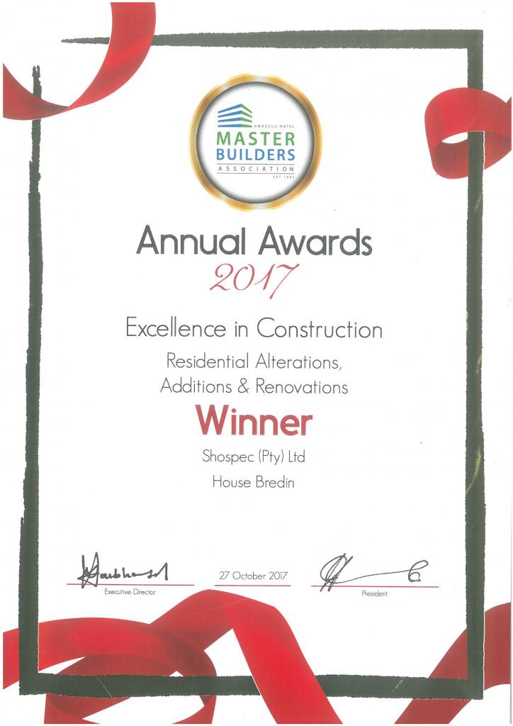 awards-shospec-HOUSE-BREDIN-EXCELLENCE-IN-CONSTRUCTION-AWARDS-WINNER